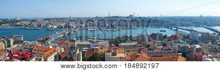 The Panoramic View Of Istanbul From The Galata Tower