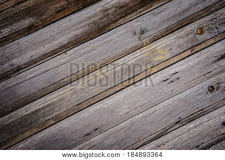 Tactile texture old wall of diagonal wood planks