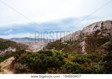beautiful mountain landscape. Sunny Valley. background