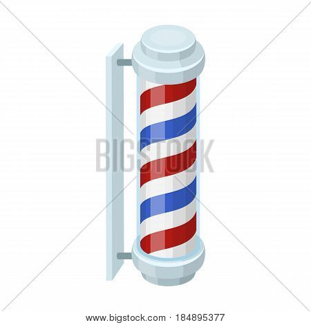 Barber logo. Barbershop single icon in cartoon style
