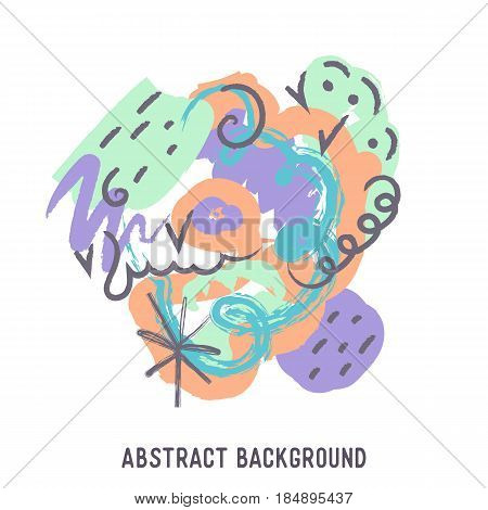 illustration of abstract colorful background with temple for Happy Holi background