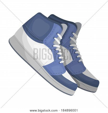 Basketball shoes. Basketball single icon in cartoon style