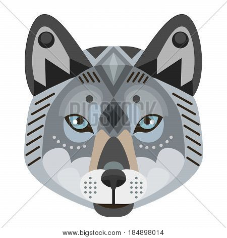 Wolf Head Logo. Vector decorative Emblem isolated