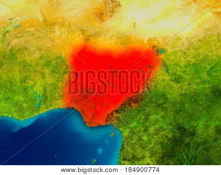 Nigeria On Physical Map