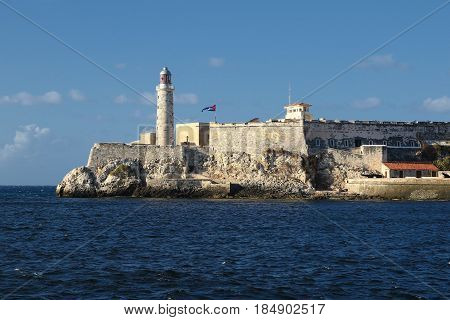 El Morro fortress and lighthouse in Havana Cuba