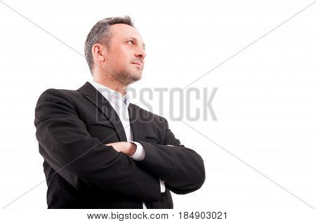 Confident Man In Formalwear Keeping His Arms Crossed