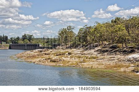 Tinaroo Dam popular tourist destination and recreational facility for the Atherton Tablelands Queensland Australia
