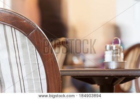 Little Table In Cafe