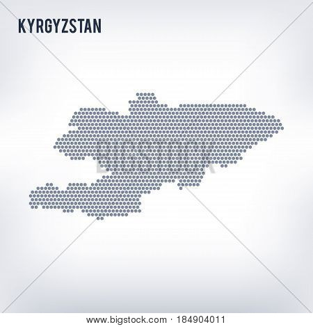 Vector hexagon map of Kyrgyzstan . Business space in the country