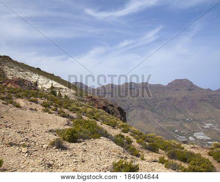 west of Gran Canaria April white rocky El Blanquizal de La Aldea
