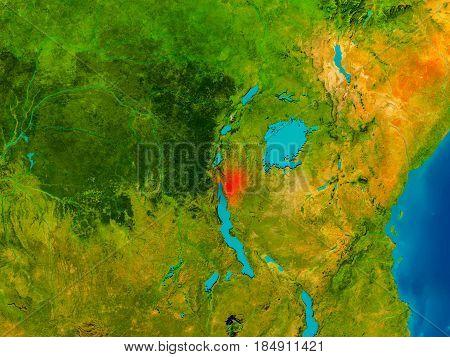 Burundi On Physical Map