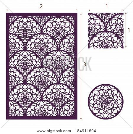 Vector Laser Cut Panel, The Seamless Pattern For Decorative Panel And Mandala. Template For Interior