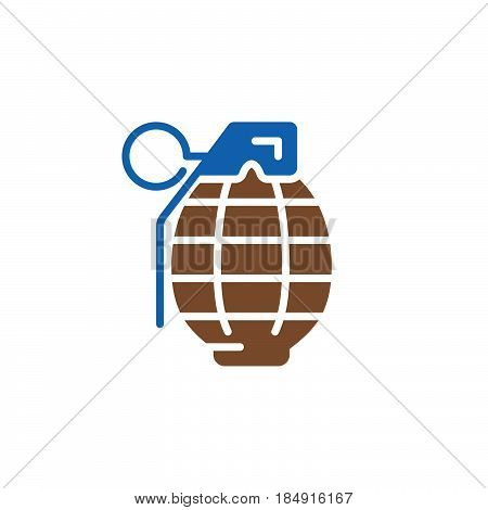 Fragmentation grenade icon vector filled flat sign solid colorful pictogram isolated on white. Symbol logo illustration