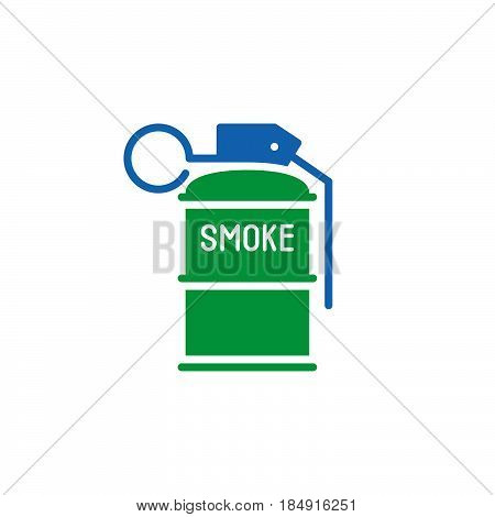 Smoke grenade icon vector filled flat sign solid colorful pictogram isolated on white. Symbol logo illustration
