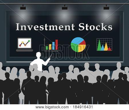 Investment Stocks Meaning Market Shares 3d Illustration