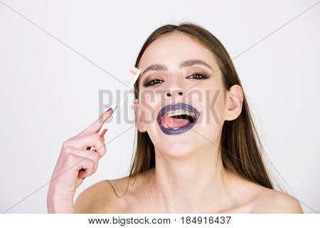 Dental Hygiene, Oral Health Concept, Feeling And Emotions, Dentist