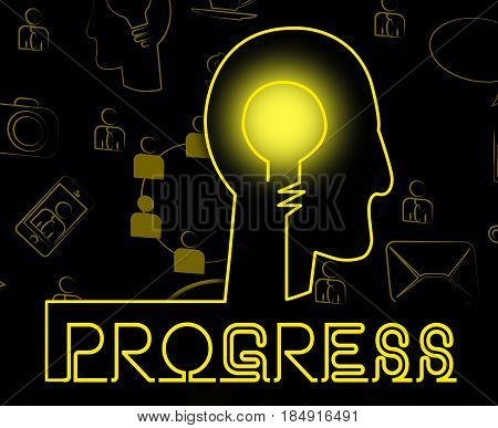 Progress Brain Shows Betterment Headway And Advancement