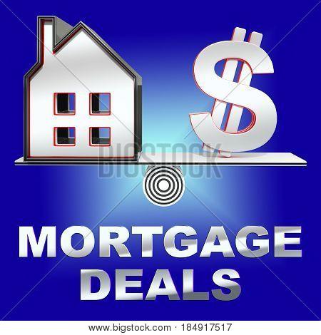 Mortgage Deals Representing Housing Discounts 3D Rendering