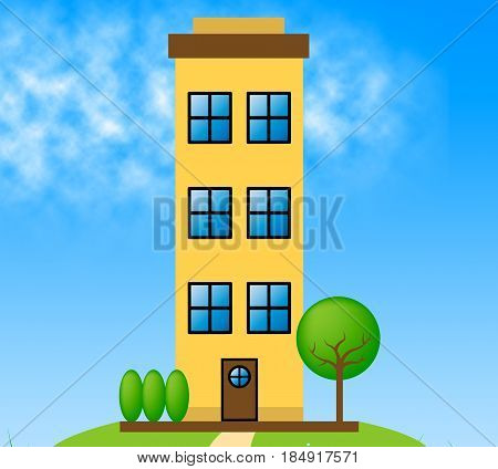 Apartment Building Meaning Condo Property 3D Illustration