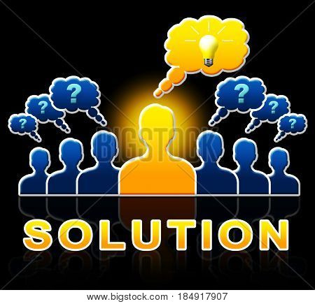 Solution People Represent Successful And Resolution 3D Illustration
