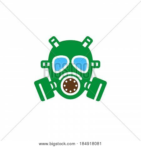 Gas mask icon vector filled flat sign solid colorful pictogram isolated on white. Symbol logo illustration
