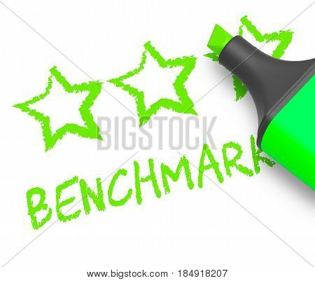 Benchmark Stars Means Performance Report 3D Illustration