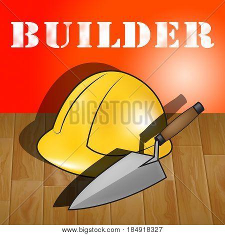 House Builders Representing Real Estate 3D Illustration