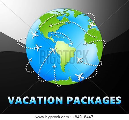 Vacation Packages Meaning All Inclusive Getaways 3D Illustration