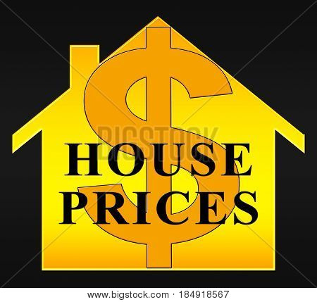 House Prices Representing Apartment Housing And Rental