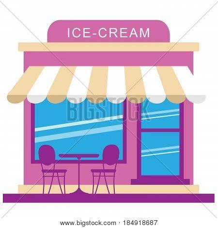 Ice Cream Store Displays Dessert Shop 3D Illustration