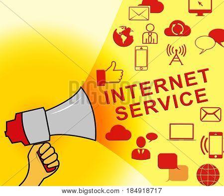 Internet Service Representing Broadband Provision 3D Illustration