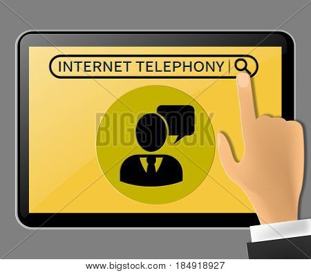 Internet Telephony Representing Voice Broadband 3D Illustration