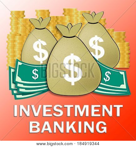 Investment Banking Meaning Bank Investing 3D Illustration