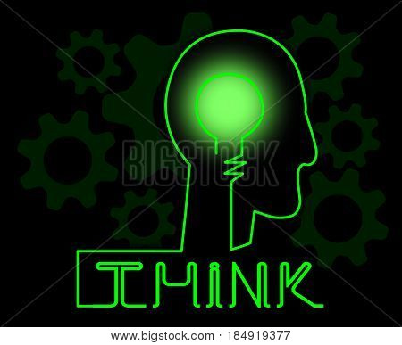 Think Brain Representing Idea Reflection And Consider