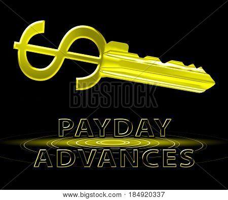 Payday Advances Means Cash Loan 3D Illustration
