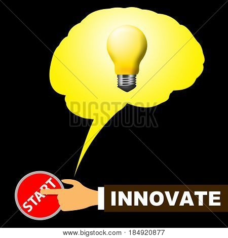 Innovate Light Meaning Innovating Creative And Ideas
