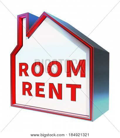 Rooms Rent Shows Real Estate 3D Rendering