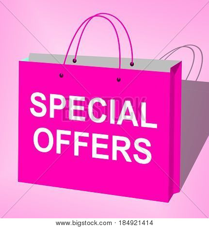 Special Offers Represents Big Reductions 3D Illustration