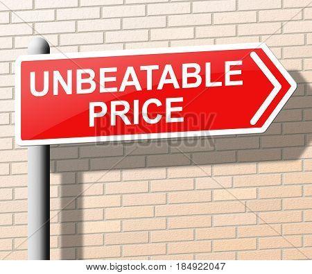 Unbeatable Price Means Best Deal 3D Illustration