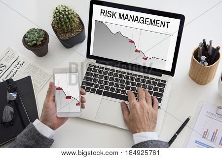 Graph Business Financial Investment Risk Word