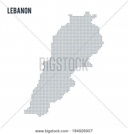 Vector Dotted Map Of Lebanon Isolated On White Background .
