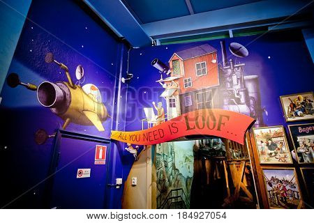 Stockholm, Sweden - July, 2012: Interior of Junibacken museum of Astrid Lindgren in Stockholm, Sweden.