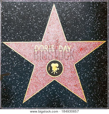 Doris Days Star On Hollywood Walk Of Fame