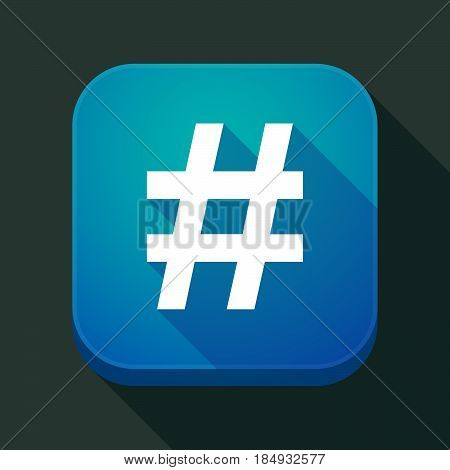Long Shadow App Icon With A Hash Tag