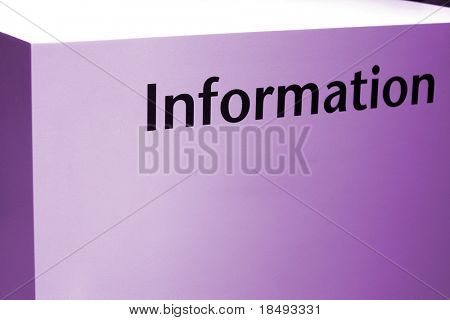 Information Sign - Purple