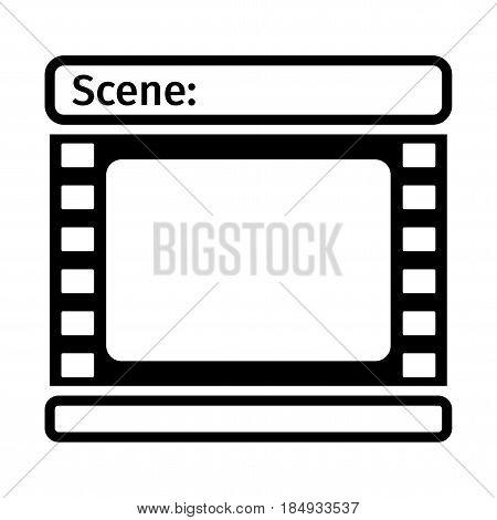 Black Storyboard Icon
