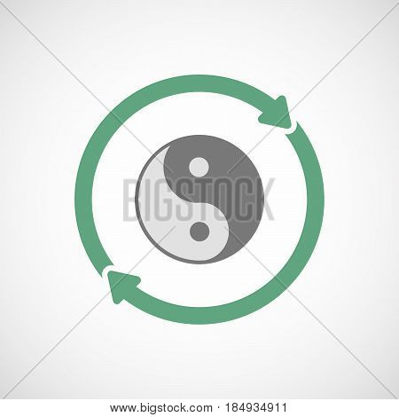 Isolated Reuse Icon With A Ying Yang