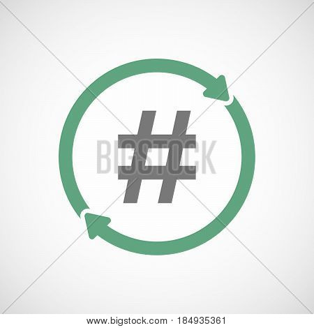 Isolated Reuse Icon With A Hash Tag