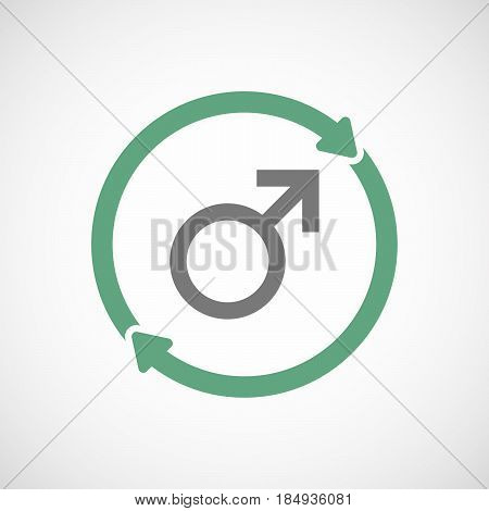 Isolated Reuse Icon With A Male Sign