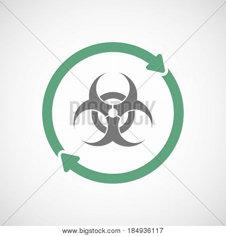 Isolated Reuse Icon With A Biohazard Sign